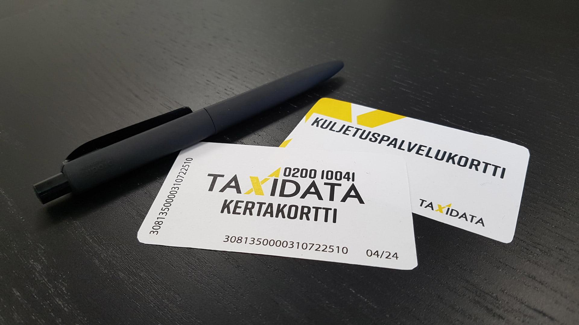Taxidatan taksikortti on maksuväline yrityksille